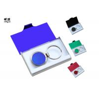 Quality Branded Metal Name Card Holder And Keychain Business Gift Sets Any Color Available for sale