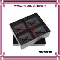 Wholesale Customized cup box, black cardboard paper box for 4 cups, mug paper box ME-TB032 from china suppliers