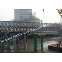 Quality Q345B Pre Engineered Modular Steel Bailey Bridge Heavy Capacity Long Fatigue Lifespan for sale