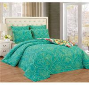 Printed Comforter Set 6pcs Reversible Bedding Set