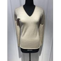 Wholesale Custom Black / Yellow / Grey Pullover Sweater , Womens Navy Cashmere V Neck Sweater from china suppliers