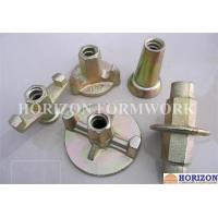 China Galvanized Formwork Tie Rod System , Flanged Wing Nut Steel Cone SGS Approval on sale