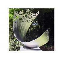 Wholesale Art Waveform Sculptures Metal Garden Flowers Sculpture Customized Size from china suppliers