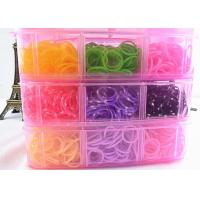 China 5400pcs 18 Colors Rainbow Loom Bands Kit Latex-free Silicone Refill Bands for sale