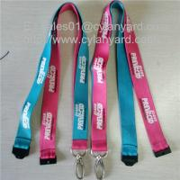 Wholesale Custom sublimation lanyards with metal loop hook and plastic breakaway clip, from china suppliers