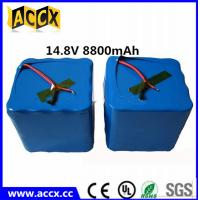 Wholesale custom 18650 14.8v 8800mah rechargeable li ion battery pack for medical Instruments from china suppliers