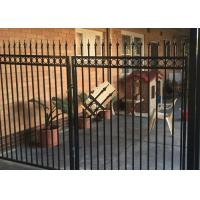 Wholesale Powder Coated Automatic Driveway Gates Rot Proof For Home / Countyard from china suppliers