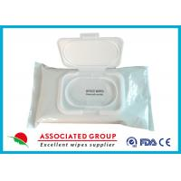 Wholesale Pre Moistened Spunlace Towels Antibacterial Hand Wipes For Cleaning / Deodorizing Surfaces from china suppliers