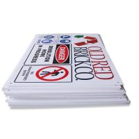 Wholesale Silk Screen Printing ABS Plastic Signs Customized PVC Folding Safety Sign from china suppliers