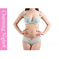 Wholesale Simple Style Adult Sexy Ladies Bra Sets with Transparent Mesh Panty from china suppliers