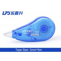 Wholesale School Student Stationery Error Revision Colored Correction Tape Blue 6M from china suppliers