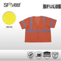 Quality ANSI ISEA 107-2010 polyester mesh fabric reflective safety vest with zipper front for sale