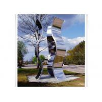 Wholesale Novel Design Outdoor Metal Sculpture , Metal Garden Statues Mirror Polished Surface from china suppliers