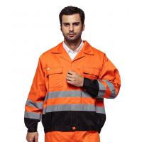Wholesale Outdoor Twill Fabric High Visibility Work Uniforms With Multi Pockets EN ISO 20471 from china suppliers