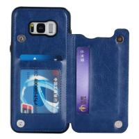 Wholesale Single - Face Holder Galaxy S8 Leather Wallet Case Three Card Slot Special Design from china suppliers