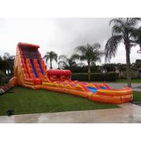 Wholesale 30 Feet Tall Orange Inflatable Adult Water Slide Cool Water Park Slide from china suppliers