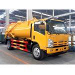 China ISUZU 10,000 Liter Sewage Vacuum Suction Truck For City Sewage Cleaning for sale