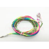China Colorful Wired Earphone Girls 3.5 Mm In Ear Headphones / Stereo Headset For Computer MP4 on sale