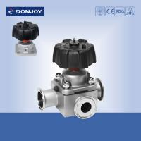 Buy cheap 1 inch - 4 inch  Manual T type tee sanitary diaphragm valve with Clamp Ends 316L from wholesalers