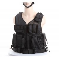 Wholesale Black Police Swat Vest With Pouches & Belt , Molle Military Tactical Vest from china suppliers