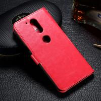 Wholesale Customized Moto G4 Plus Leather Case , Crazy Horse PU Motorola Flip Cover from china suppliers