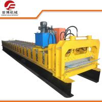China Gray Trapezoidal Sheet Roll Forming Machine With Curving Press Moulding Machine on sale