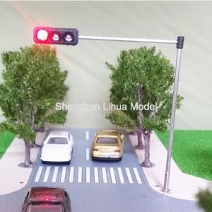Buy cheap model Mini Traffic Light,3 aspect signal metal lamppost,model three aspect signal lights,3 heads mini traffic lampposts from wholesalers