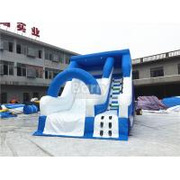 Wholesale Blue Small Commercial Inflatable Slide For Children / Backyard Water Slide from china suppliers