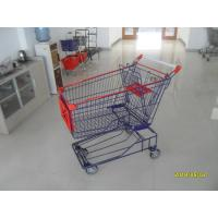 Wholesale Supermarket 150L Wire Shopping Carts With 4 Flat Casters 1010x580x1016mm from china suppliers