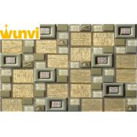 Wholesale Luxury Golden Glass Stainless Steel Mosaic Tile For Backsplash Wall from china suppliers