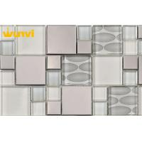 Wholesale Custom Decorative Vitreous Crystal Circle Bathroom Mosaic Tiles For Walls from china suppliers