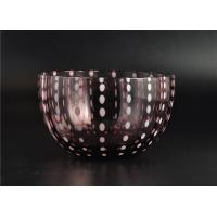 Wholesale Home Decor Coloured Glass Candle Holders , Glass Jars For Candles from china suppliers