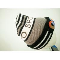 Wholesale Acrylic Stripe Warm Baby Boy Knitted Hats , Computer Knitted Hats For Children from china suppliers
