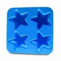 Wholesale Silicone Ice Cube Tray in Star Shape, Made of 100% Food-Grade Silicone, Passed SGS/FDA/LFGB Test from china suppliers