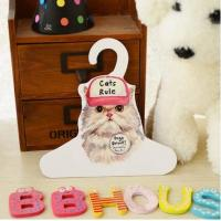 China Pets cat lovely Clothes Flexo PrintingCustom Cardboard Hangers for sale