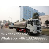 China high quality Dongfeng tianjin 4*2 LHD12m3 fresh milk tank truck for sale, factory sale best price foodgrade milk truck on sale