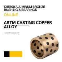 China C95800 Aluminum Bronze Bearing ASTM UNS / SAE Casting Copper Alloy Bushing & Plate on sale