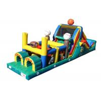 Wholesale Funny Basketball Inflatable Obstacle Courses For Rent , Moon Bounce Obstacle Course from china suppliers