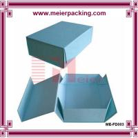 Wholesale Navy blue folding paper box with magnetic closure ME-FD003 from china suppliers