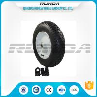 Wholesale Super Elasticity Heavy Duty Rubber Wheels 4.00-8 , Rubber Caster Wheels Metal Rim from china suppliers