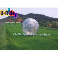 China 2 Safty Belts Human Sized Bubble Ball Giant Inflatable Ball For Humans on sale