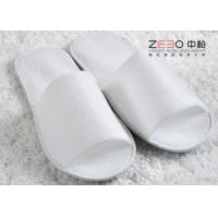 Home Hotel Disposable Slippers / Waffle Spa Slippers Open Toe Style