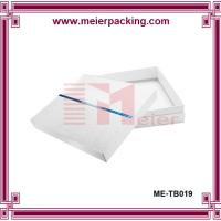 Wholesale White two piece paper box with embossed logo/White Scarf Gift Boxes  ME-TB019 from china suppliers