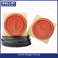 "Wholesale Custom Pre ink Wood Rubber Ink Stamp for Election Personal Use - 1 1/2"" Round from china suppliers"
