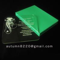 Wholesale beautiful acrylic invitation from china suppliers
