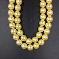 Wholesale Wholesale High Quality  14mm Golden  Round Shap Shell Pearl Strand 16 inches from china suppliers