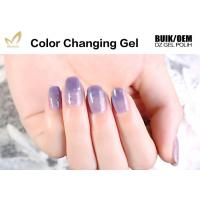 Wholesale Unharmful Ingredients Colour Changing Gel Nail Varnish , UV Led Gel Polish No Odor from china suppliers