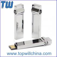 Buy cheap Solid Metal Keyring Usb Drive 64GB for Business Free Logo Printing Company Promotion Gift from Wholesalers