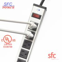 """Quality 24"""" Horizontal Metal Multi Socket Extension Lead Grounded 16 Way With Circuit for sale"""