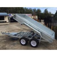 Buy cheap 2000kg 10 X 5 Tandem Trailer / Galvanised Tipper Trailer With Checker Plate from wholesalers